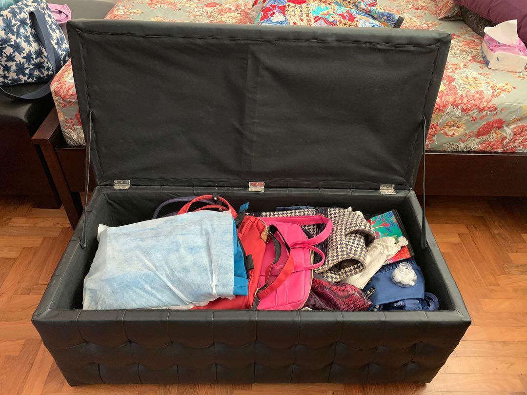 Nice black storage box chest