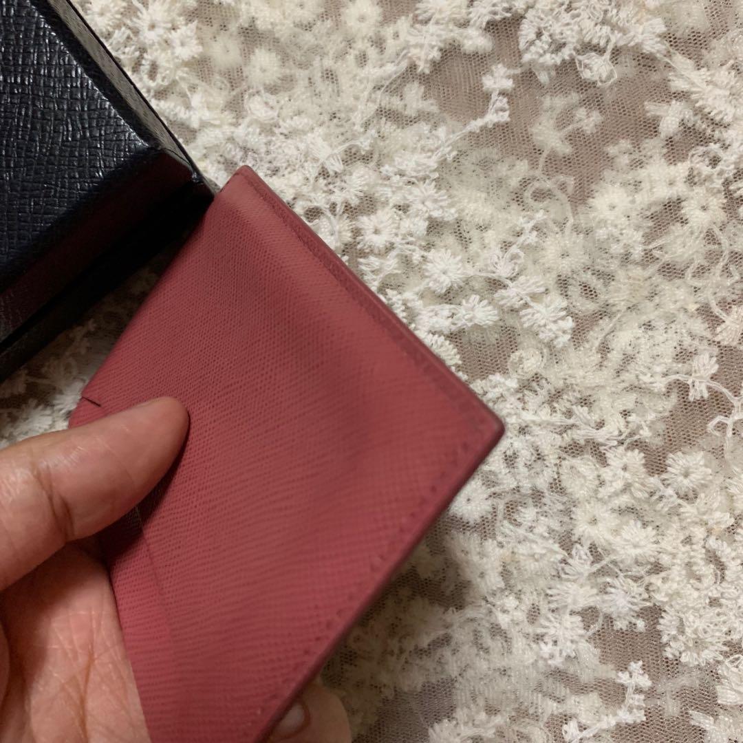 Prada Card Holder 咭片套 桃紅