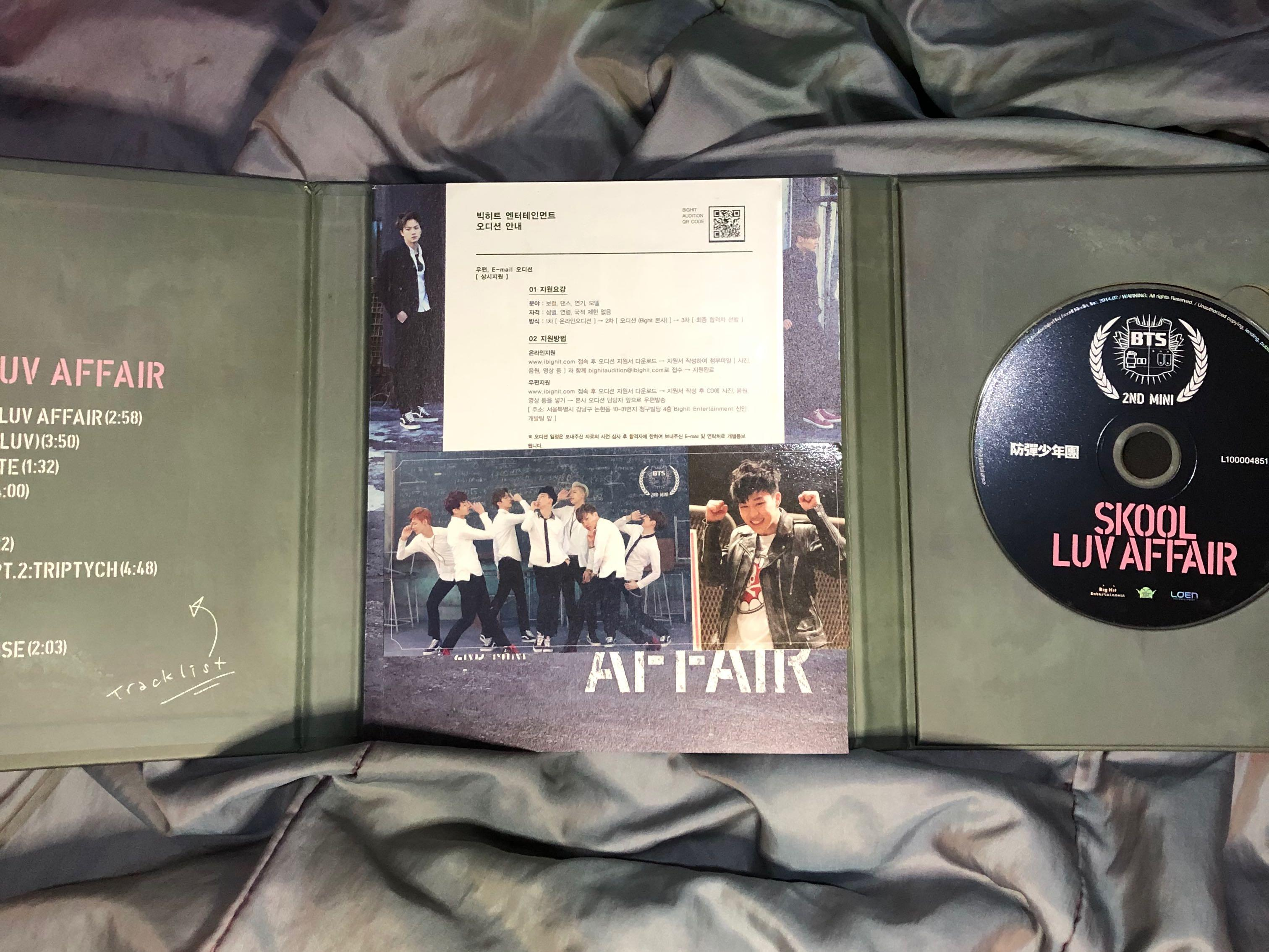 [preloved] SKOOL LUV AFFAIR BTS ALBUM + jimin photocard + BTS sticker