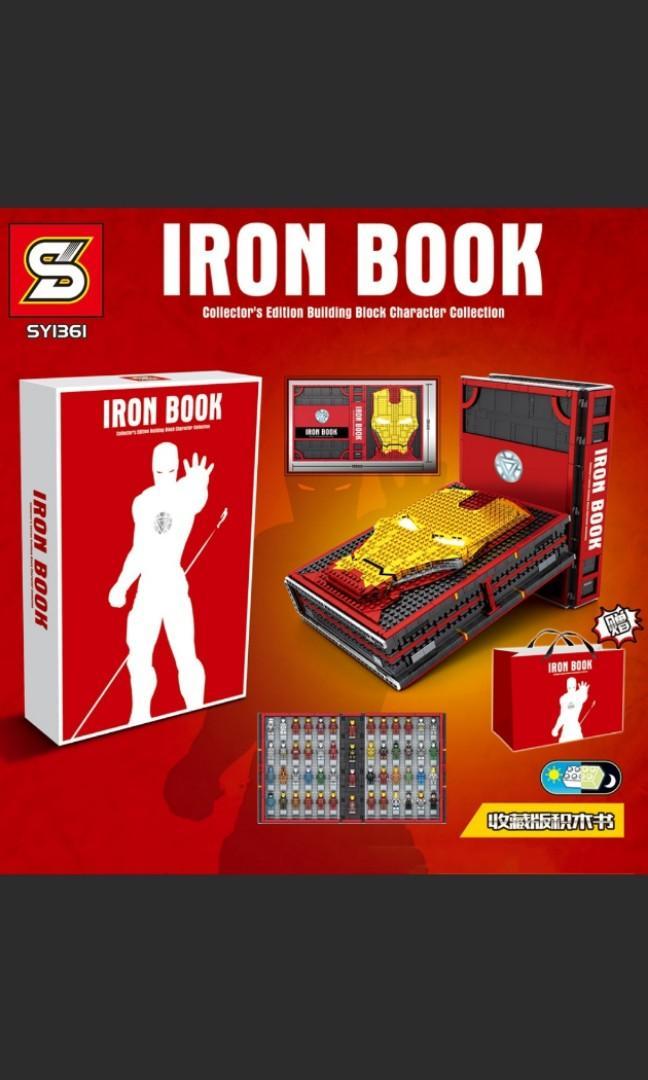 Preorder SY1361 Marvel Ironman Iron Book 2600pcs