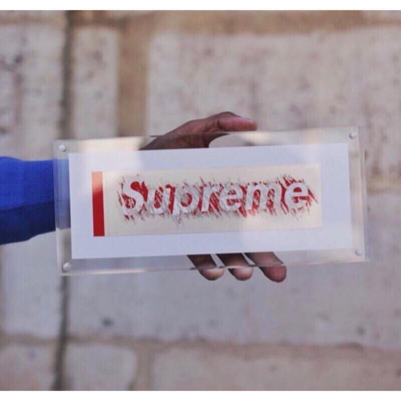 Supreme FW19 SCRATCH OFF BOX LOGO STICKER 刮刮樂 貼紙