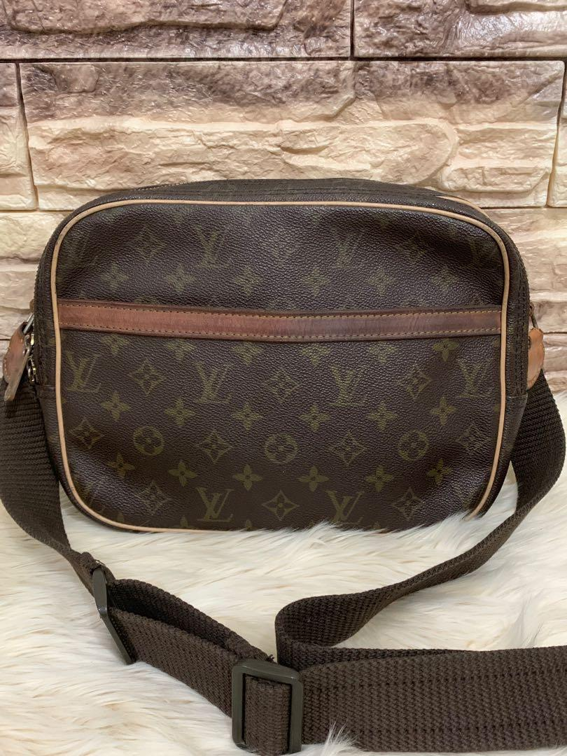 Sling bag reporter LV authentic , kondisi 85% OK, 28 x 20 x 10 cm, full leather luar dalam serius only!!muraahh