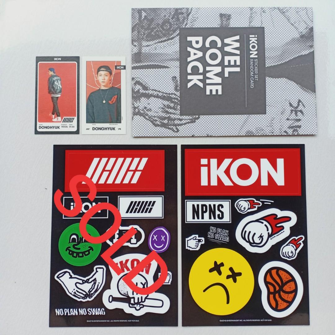(TAKE ALL + FREE HANDFAN ONG SEUNGWOO) WELCOME PACK DONGHYUK (DK) IKON FROM HALF DEBUT ALBUM + HAND FAN ONG SEUNGWOO