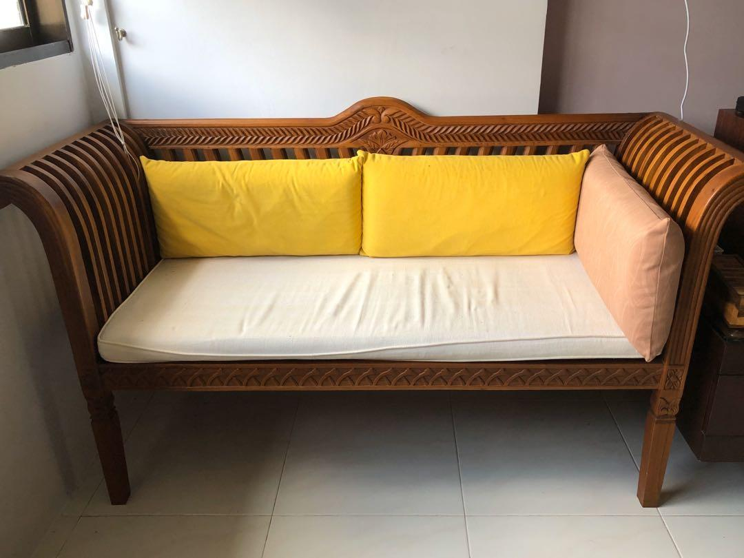 Teak Wood Sofa Furniture Tables Chairs On Carousell
