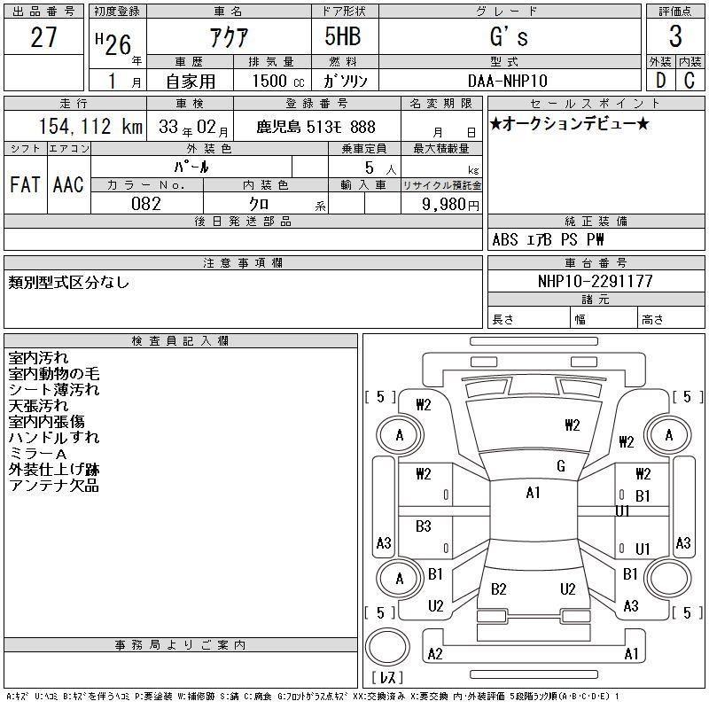 TOYOTA AQUA GS/PRIUS C GS 1.5