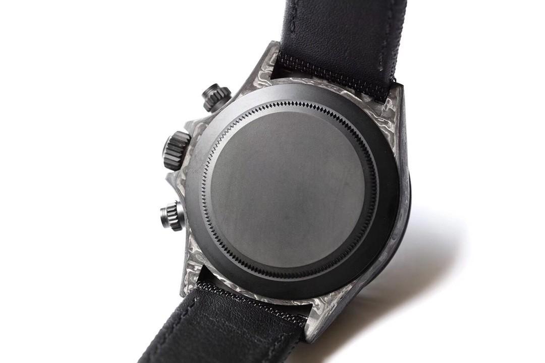 TW Factory, the carbon fiber custom version of the  Cosmic Timed Ditona series All Black Strap Artificial Fiber