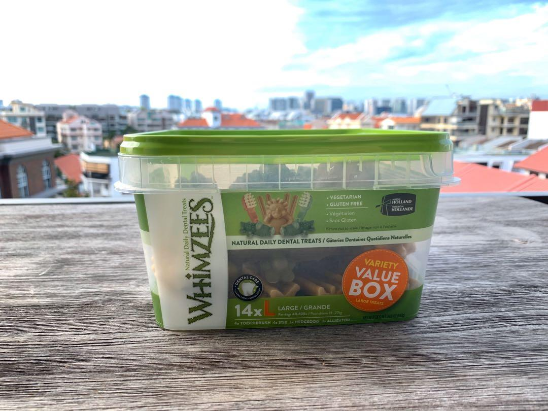 Whimzees variety value box (large) x 3 available @ $99