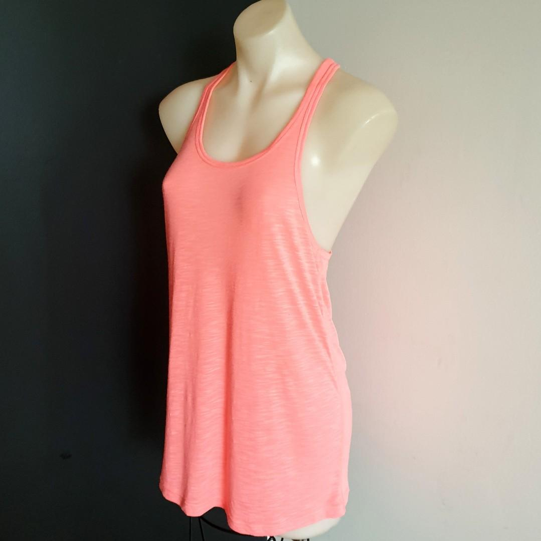 Women's size M 'LORNA JANE' Gorgeous orange racerback top - BNWOT