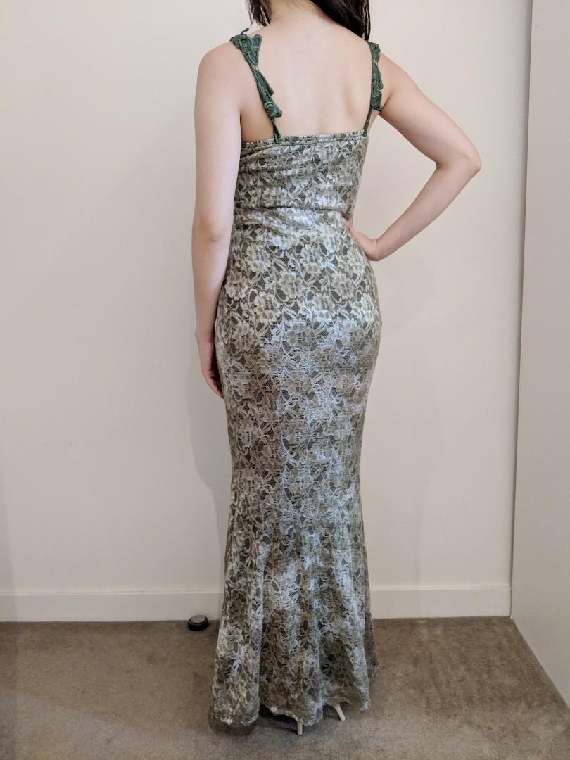 XS-S Figure hugging Mermaid style maxi long dress for prom/ball