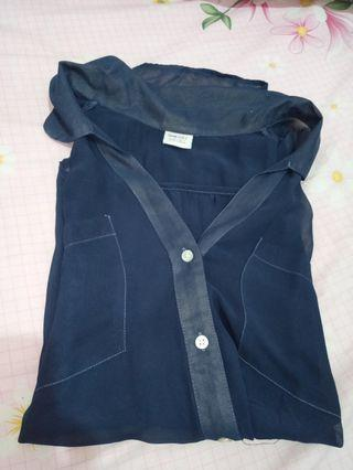 Esprit navy blue top