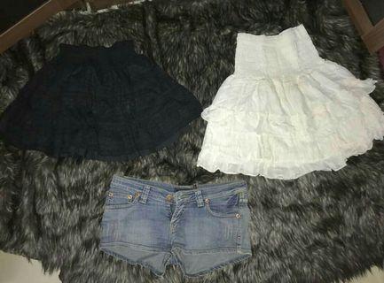 #visitsingapore 3 in 1 rok tutu hitam putih hot pants