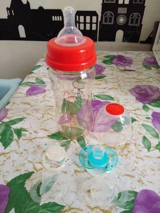 Botol susu + 2 dot bayi merk avent 30rb