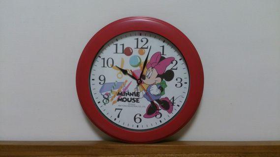 米妮圓型掛鐘