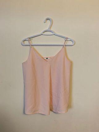 Uniqlo Cami Strap blouse (Peach Pink Size S)
