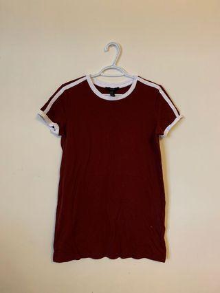Forever21 Varsity Tshirt Dress (Size S)
