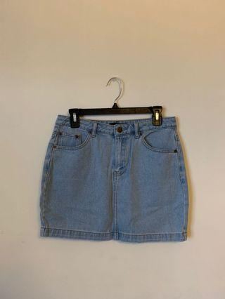 Forever 21 Denim Mini Skirt (Size L)