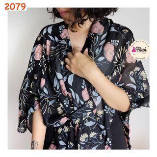Kimono Bunga / Kimono Big Size / Jumbo Kimono / Floral blus / ikat / 2079