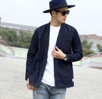 日系 和風 牛仔外套 道袍 古著vintage