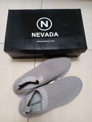 Kets Nevada / sepatu nevada / nevada shoes / sepatu wanita abu-abu