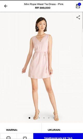 POMELO Pink Rope Tied Dress