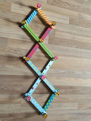 Hanging clothes rack for little boys