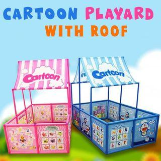 Cartoon Playard With Roof