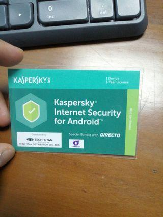 Kaspersky Internet security for Android handphone