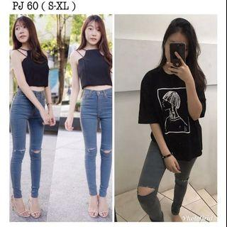 Punny jeans import bkk ripped jeans new