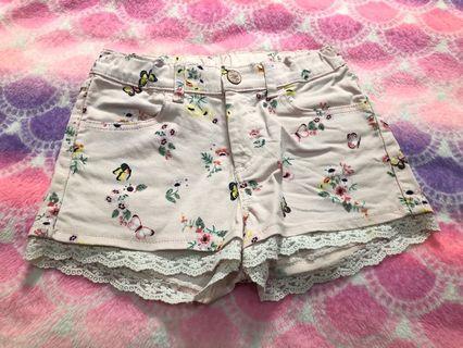 HnM Butterfly Pink Short Pants Pink Denim