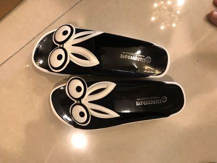 近全新厚底兔兔拖鞋涼鞋