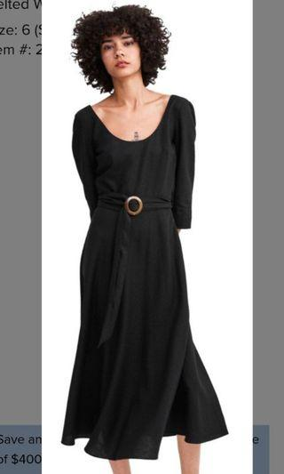 Inc pos Zara linen Black dress with belt