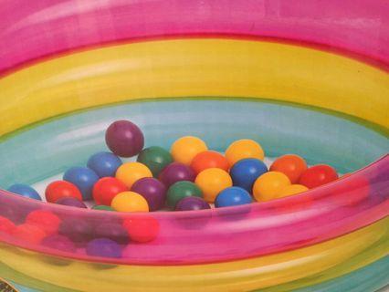 彩虹充氣球