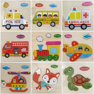Puzzle kayu / mainan anak / mainan edukatif / puzzle anak