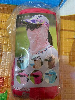 全罩式網眼設計防曬透氣可折疊 遮陽帽