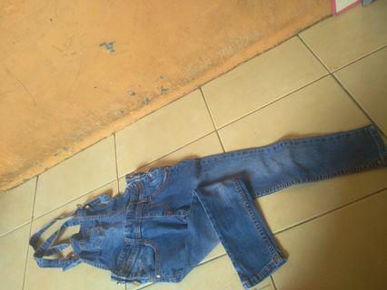 Baju kodok bahan jeans denim