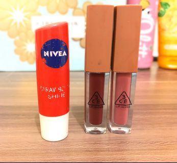 Lip Tint 3ce & Nivea (Bundle)