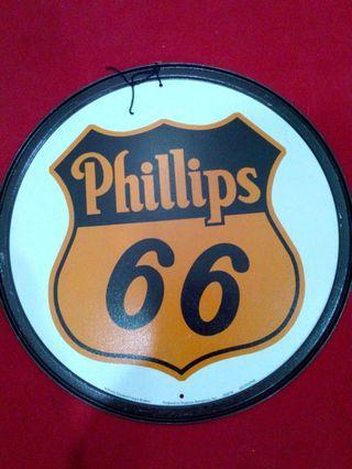 PHILLIPS 66 Gasoline Motor Oil Vintage Tin Metal Sign