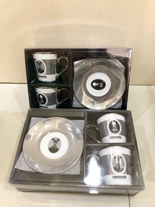 Renoma coffee cup set x2