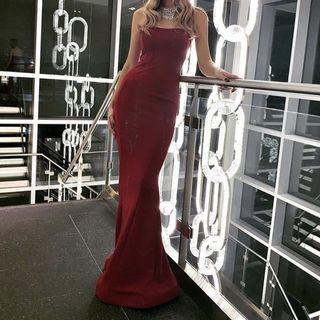 Maroon Evening Gown XS