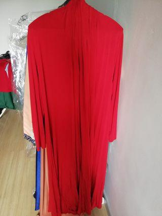 Red Long Cardigan