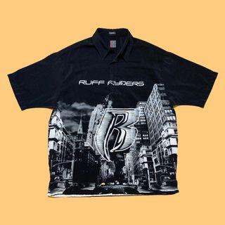 JCI:Ruff Ryders 廠牌服裝支線 印花襯衫 夏威夷衫 / 東岸嘻哈 / 00s / Y2K / DMX