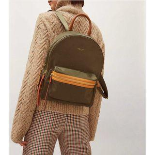Authentic Tory Burch Perry nylon colourblock zip backpack