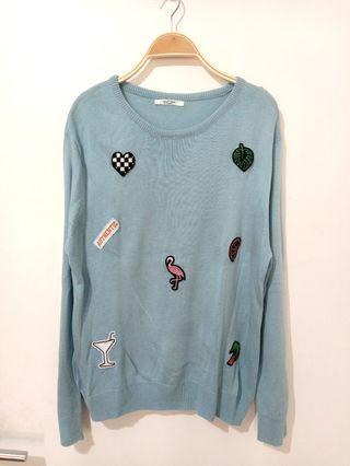 #joinoktober Blue sweater | colorbox | baju rajut