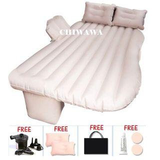 NEW FULL SET inflatable Car Bed  Mattress Backseat 2 Pill0ws + Pump