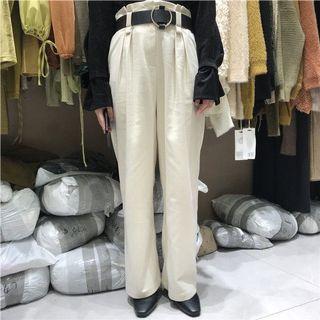 「R」高腰顯瘦直筒花苞休閒褲(預購)