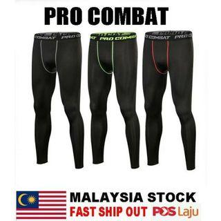 PRO COMBAT Men's Compression Gym Sports Running Tights Quick-drying