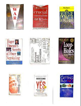 Assorted non-fiction books - Business - Fitness - Mental [OCT19]