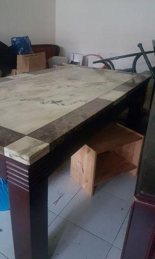 8 seater dining table all marble