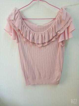 有實穿照 0918粉色針織衣