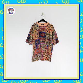 二手 彩色 印花 男人味 棉質 彈性 上衣 T 前列腺超音波 801007